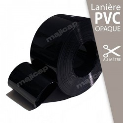 Lanière PVC souple NOIR opaque