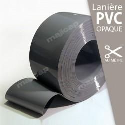 Lanière PVC souple GRIS opaque