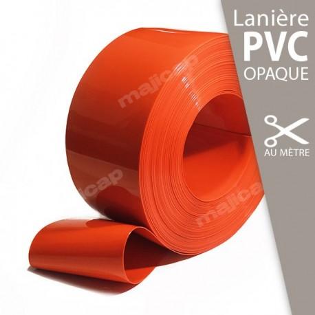 Lanière PVC souple ORANGE opaque à la découpe au mètre