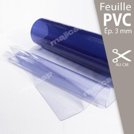 Feuille PVC souple transparente 3 mm découpe au cm