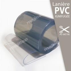 Lanière PVC souple IGNIFUGÉE transparente à la découpe au mètre