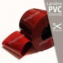 Lanière PVC souple SOUDURE rouge translucide à la découpe au mètre
