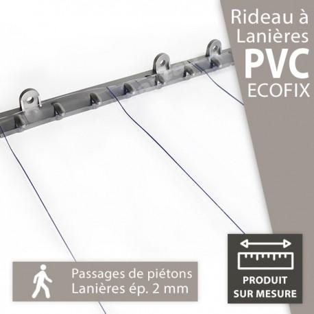 """Rideau fixe à lanières PVC """"Ecofix"""" pour piétons"""