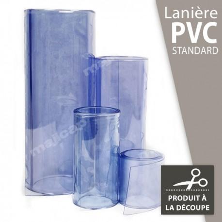 Lanière PVC transparente à la découpe au mètre