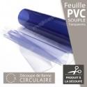 Nappe ronde en plastique souple transparent sur mesure