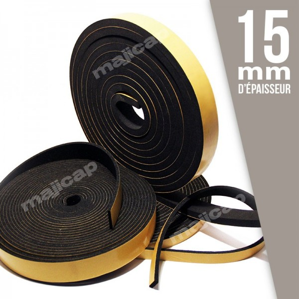 ruban caoutchouc mousse adh sif p 15 mm. Black Bedroom Furniture Sets. Home Design Ideas
