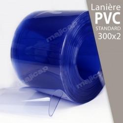Présentation : rouleau de lanières PVC souple transparent 300x2