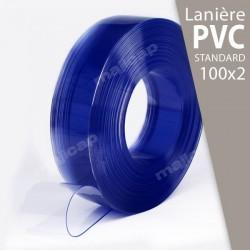 Présentation : rouleau de lanières PVC souple transparent 100x2