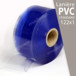 Présentation : rouleau de lanières PVC souple transparent 122x1