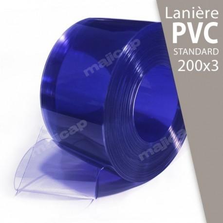 Présentation : rouleau de lanières PVC souple transparent 200x3