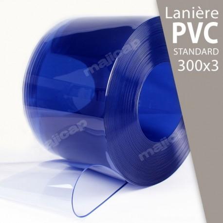 Présentation : rouleau de lanières PVC souple transparent 300x3